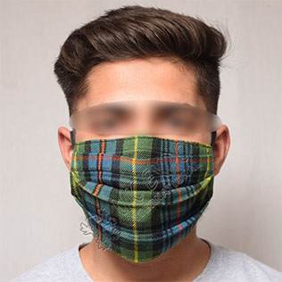 Scottish Flower of Scotland Pleat Mask