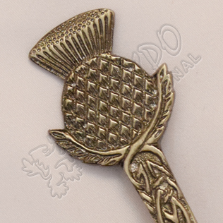 Scottish Flower Shiny Antique Kilt Pin