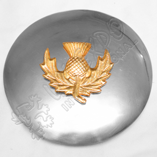 Gold Thistle Badge with Plain Brooch