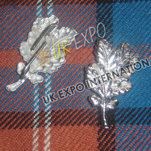 Scottish Leaf Metal Badge