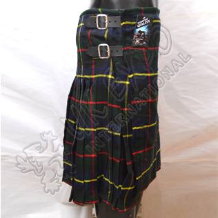 Scottish MacLeod Of Harris Tartan 8 Yard Kilt
