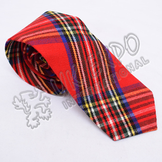 Scottish Modern Royal Stewart Tartan Tie