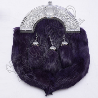 Scottish Purple Furr Full Dress Sporran