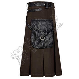Scottish Rival Stereoscopic Utility kilts Dark Brown