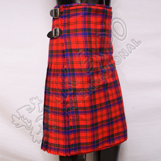Scottish Robertson Red Tartan 8 Yard Kilt