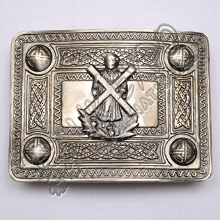 Scottish Shiny Antique Celtic Design Buckle With St Andrews Badge