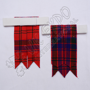 Scottish Tartan Kilt Hose Flashes