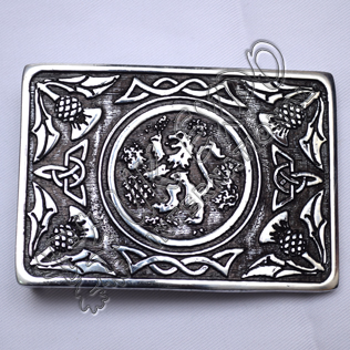 Scottish Rampart lion Black Color Filing Kilt Buckle
