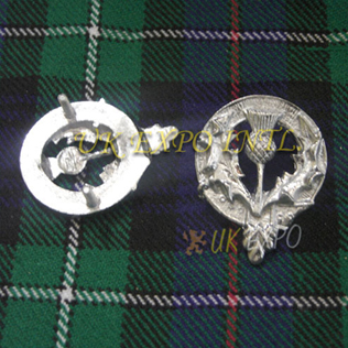 Scottish Thistle Metal Badge