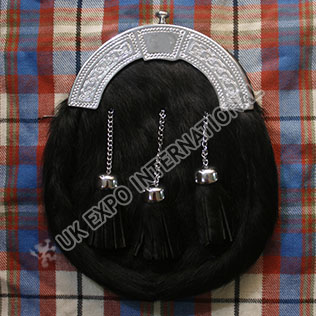 Seal Skin Black Sporran