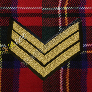 Sergeant 3 Stripe Gold Braid