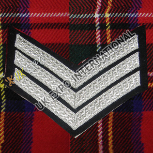 Sergeant 3 Stripe Silver Braid