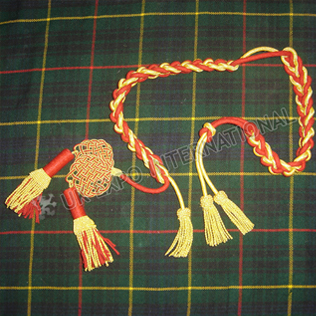 Shako Hat cord Red and Golden