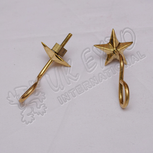 Shako star Hook Brass Finish