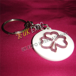 Shamrock Plastic Key Chain