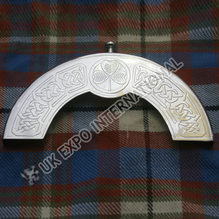 Stainless Steel Shamrock with celtic knot Cantle