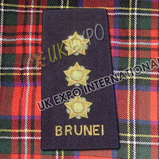 Shoulder/Epaulette Brunei Color Black & Yellow