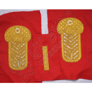 Embroidery Shoulder/Epaulette Tabs Gold Bullion