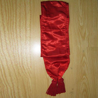 Silk Sash Red Color with Red Tessels