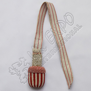 Silver and Maroon Braided Sword Knot