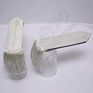 Silver bullion wire Braid Special Shoulders/Epaulette
