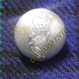 Silver Button Round Shape Crown and Harp