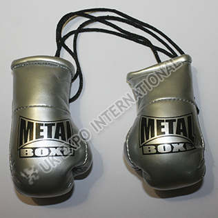 Silver Metallic Color Boxing Glove Key Chain