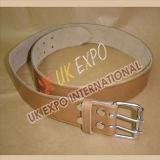 Skin Color Leather Utiltiy kilt Belt With Double pin Ruler Buckle
