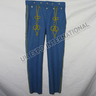 Sky Blue Color Pant with Yellow Braid