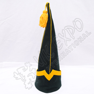 Spanish sleeve Cap Dark Green with Yellow Wool Tassel Blazer material