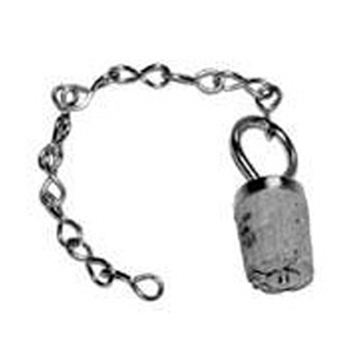 Spare waterbottle chain and stopper