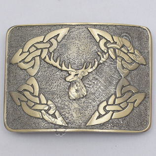 Stage Celtic Brass Antique Kilt Belt Buckle