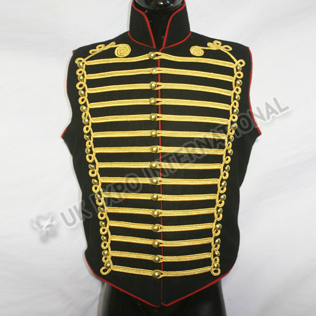 STEAMPUNK hussar Gothic MILITARY WAISTCOAT