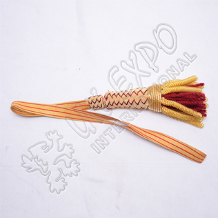 Sword Knot Red Wine and Gold Color