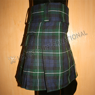 Tartan utility kilts with 2 Side Pockets and 2 Back Hidden Pockets