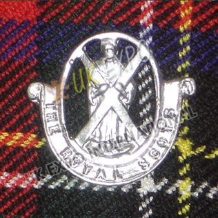 The Royal Scots Metal Badge