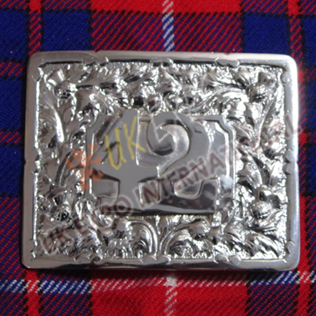 Thestle with 42nd Buckle for Black Watch Kilts