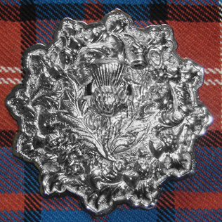 Thistle Badge with Trim