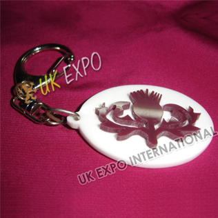 Thistle Plastic Key Chain