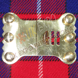 Tie neck brass buckle