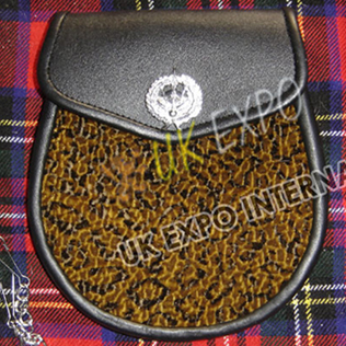 Tiger Artificial Skin Drummer Badge on Flap