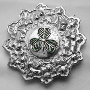 Trim Brooch with Shamrock Badge