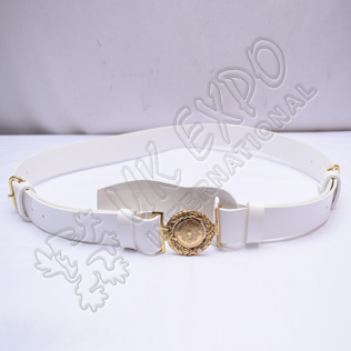 Two Sword Belt With PVC White Shine Belt