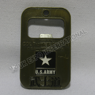 US Army Brass Badge with Bottle Opener