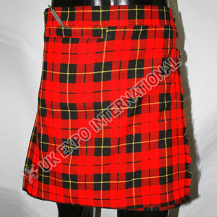 Wallace tartan Ladies Billie kilt with front pocket