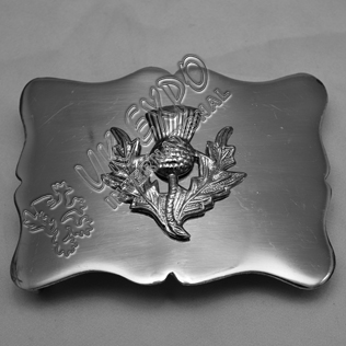 Wavey Thistle Belt Buckle
