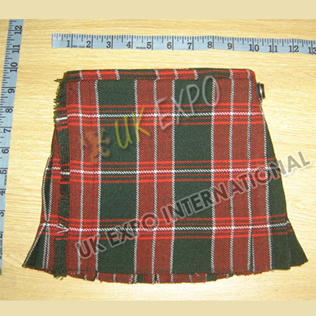 Welsh St Davids Tartan Baby Small Kilt 2 Buckle Closing