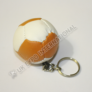 White and Orange Color Football Key Chain