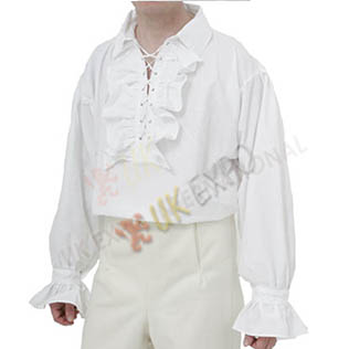 White Cotton Frill Shirt