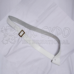 White Leather Cross Belt with boynet holder